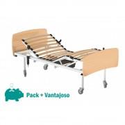 HCARESOL Pack de Cama Hospitalar Elétrica Colchão de Espuma Tripartido (+79€) Faia Ref. ACCB001 Pendural de Fixação (+59,95) - HCARESOL