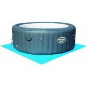 bestway 58220 Tappetino Tappeto Per Sottofondo Piscina In Polietilene 50x50 Cm Set 8 Pezzi Colore Blu - 58220