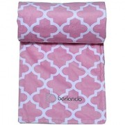 berlando- baby blanket pink pastel -MOROCCAN PRINT- ultra soft baby girl blanket #1 ranked in baby blankets for girls minky baby blankets stroller blanket ideal baby shower gift 100% polyester.