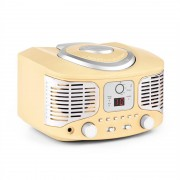 Auna RCD320 ретро CD плеър FM AUX кремав (MISM1-RCD320 CR)