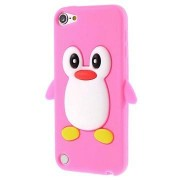 iPod Touch 5G 3D Pinguïn Siliconen Hoesje - Hot Pink