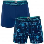 Muchachomalo Shorts 2er-Pack Blau - Dunkelblau Größe XXL