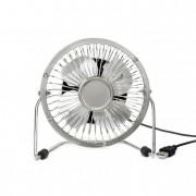 Asztali ventilátor, USB csatlakozóval, ezüst
