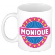 Bellatio Decorations Voornaam Monique koffie/thee mok of beker - Naam mokken