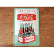 Placa metálica DRINK COCA-COLA - 20 x 30 cm.