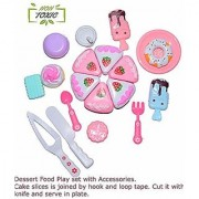 Dessert Food Ice Cream and Cake Play Set for Kids (Boys and Girls)(Colours and Contents May Vary)