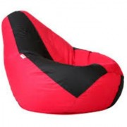 Ink Craft red black Hi-Back Gamer Bean Bag Chair Cover Only - XXL
