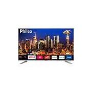 Smart TV LED 40 Philco PTV40G50sNS Ultra HD 4k com Conversor Digital 3 HDMI 2 USB Wi-Fi Som Dolby 60Hz Prata