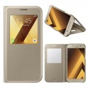 Capa Samsung Galaxy A5 2017 (Samsung A520) S View Cover Dourado em Blister EF-CA520PFEGWW