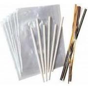 Lollipop wrapping set / kit - voor 18 lollys / cakepops - Wilton