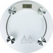 Akline Bathroom 8mm Thick Glass Body Digital Weighing Scale(White)