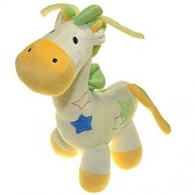 Baby Kids Plush Toy Doll Cute Giraffe Deer Music Box Bell Toy Pull Mobile baby Bed Hanging Bells Educational Toys Plush Doll,Bed Hang Wind Up Toys(Yellow)