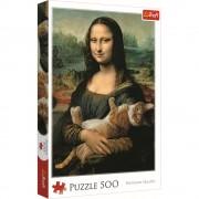 Puzzle familie Trefl 500 piese - Monaisa cu pisica