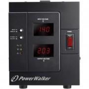 Stabilizator de tensiune PowerWalker, 3000 VA, 2400 W, iesire 1 x Shuko, protectie la supraincarcare