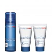 Clarins baume super hydratant confezione men idratante 50 ML Balsamo Viso + 30 ML Gel Detergente Viso + 30 ML Doccia Shampoo