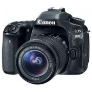 Cámara Canon EOS Réflex 80D 24.2MP / LCD 3.0 / wifi / NFC / lente EF 18-55 mm IS V / Full HD