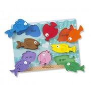 Melissa and Doug Colourful Fish Chunky Puzzle, Multi Color