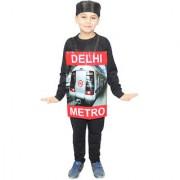 Kaku Fancy Dresses Train Costume for Kids/Vehicle Fancy Dress for Kids/ -Multicolor 3-8 Years For Unisex