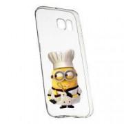 Husa de protectie Minion Chef Samsung Galaxy S6 Edge rez. la uzura anti-alunecare Silicon 215