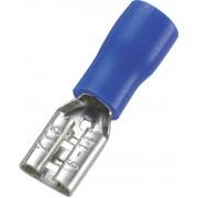 Papuc plat mama, sectiune: 1,5 - 2,5 mm², albastru, AWG 16 - 14, 4,8 x 0,5 mm, 100 bucati
