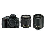 Nikon D5300 AF-P 18-55 VR II AF 55-200 VR II KIT VBA370K011 DSLR digitalni fotoaparat Camera with 18-55VRII f/3.5-5.6 55-200mm f/4-5.6G ED 55-200VRII Lens APS-C DX objektiv VBA370K011