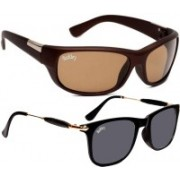 Backley Sports, Wayfarer Sunglasses(Brown, Black)