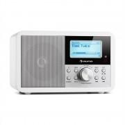 Auna Worldwide Mini, интернет радио, WLAN, мрежов плейър, USB, MP3, AUX, FM тунер, бял цвят (MG2-Worldwide Mini W)