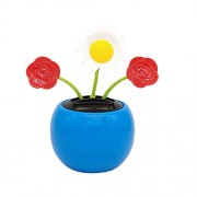 Iuhan Flower Bees Solar Powe Bobble Head Toy S Solar Powe Dancing Flower Swinging Animated Dancer Toy Car Decoration AS The Picture Shows B