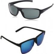 RPR Cat-eye, Retro Square Sunglasses(Black, Blue)