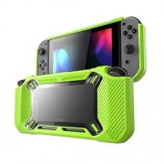 ALAMODE Switch Funda Rubberized Compatible Con Nintendo Switch (Verde)