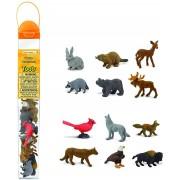 Animale din natura - Set figurine in tub