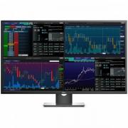 Monitor DELL Professional P4317Q 42.51 Multi-Client, 3840 x 2160, UHD 4K, IPS Antiglare, 16:9, 1000:1, 350cd/m2, 8ms, 178/178, DP, Mini DP, 2x HDMI, VGA, 5xUSB3.0, RS232, Headphone out, 2x 8W Speake