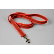 Gummierte rote Hundeleine Handschlaufe 2 x 120 cm