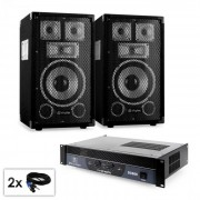 "Electronic-Star PA Set Saphir Series ""Warm Up Party TX8"" комплект 20cm високоговорители & усилвател 800W (PL-10874-21665)"