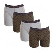 Vinnie-G boxershorts Military Olive Grey - Print 4-pack L