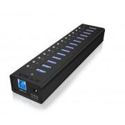 Hub USB RaidSonic IB-AC6113 IcyBox 13x USB 3.0 cu port incarcare USB negru