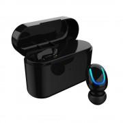 Mini Single In-ear Wireless Bluetooth 4.2 Earphone with Charging Box - Black