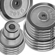 Megafitness Shop Vorteilspaket! 100 kg - 30 mm Chrom - Sortierung frei wählbar