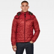 G-Star RAW Heren Attacc Heatseal Hooded Quilted Jack Rood - Heren - Rood - Grootte: 2X-Large