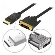 . DisplayPort till DVI-D Single Link monitorkabel, 20-pin ha - 24+1-pin ha, 3m, svart