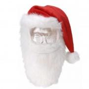 Geen Kerstmuts met snor en baard