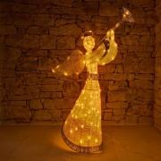decoLED înger luminos, 122 cm, alb cald