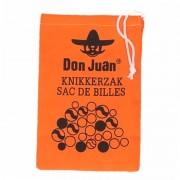 Don Juan Knikkers Knikkers opbergzak oranje - Knikkerzakken