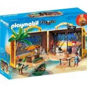 Playmobil Pirates - Set mobil insula aurie a piratilor