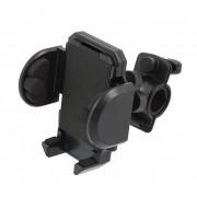 Suport universal de bicicleta pentru telefon smartphone, PDA sau GPS, Negru