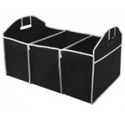 Drake Car Boot Organiser For Picnic Party Shopping Heavy Duty Collapsible Foldable(Black)