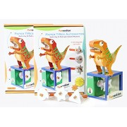 Funvention (Pack of 2) Paper T-Rex Automaton 3D Model with 4 Set of Animated Jaw Movements - DIY Science Educational Toy - STEM Learning Kit - Learn with Fun Do It Yourself Innovative Toy Kit for Kids - Birthday Gift