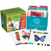 Educational Insights Smart Talk Espanol Card Sets Set 2: School and Community (La Escuela la Comunidad)