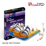 Cubicfun 3D Puzzle - Sydney Opera House, Multi Color