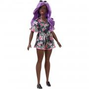 Barbie Fashionista Muñeca Morena con Pelo Lila y Vestido de Flores